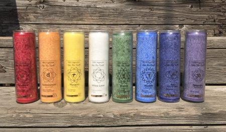 Happiness Crown Chakra Fragrance Free Jar Candle | Shasta Rainbow Angels