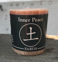 Feng Shui Inner Peace Earth 100% Essential Oil Votive Candle | Shasta Rainbow Angels