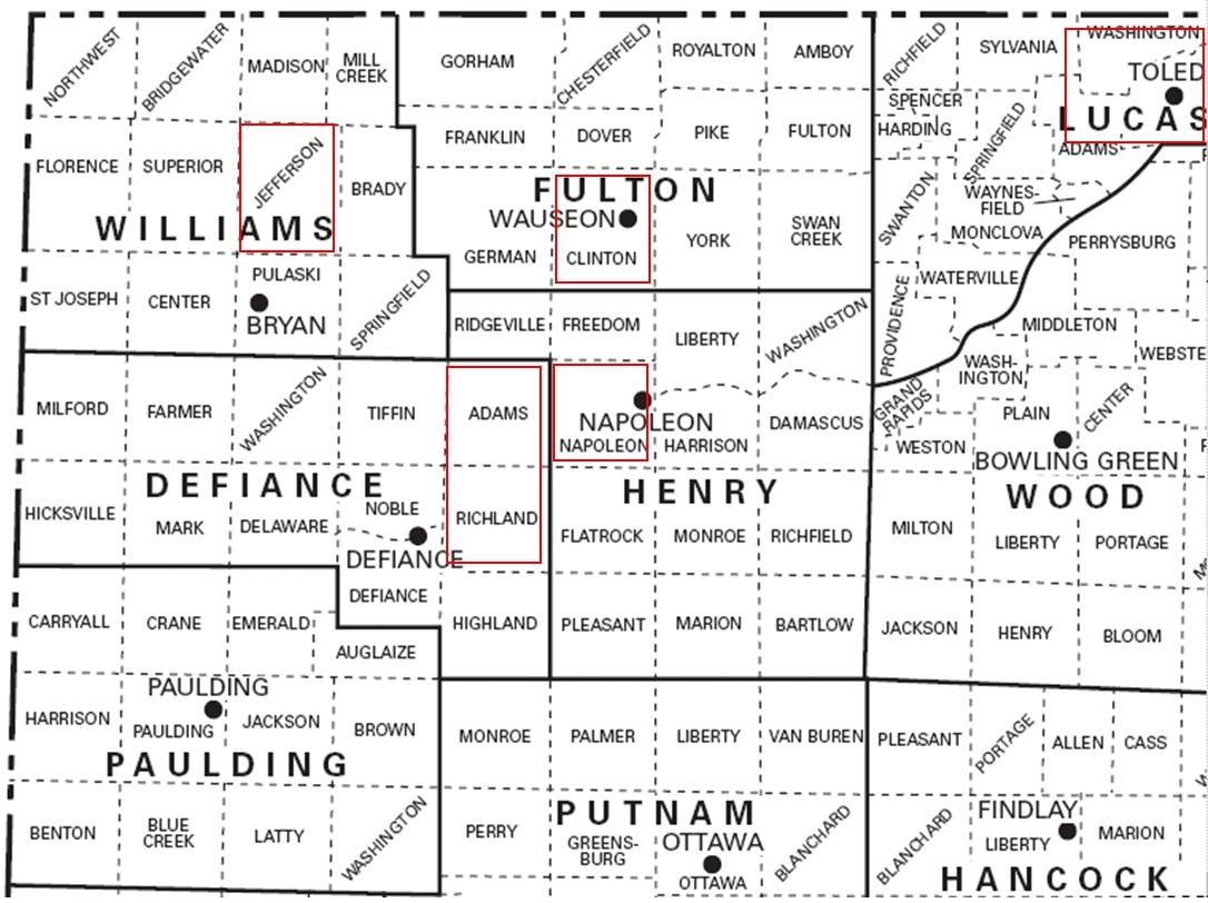 Northwest Ohio Gloryhole Locations
