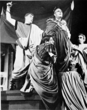 Caesar is assassinated; Stratford 1955