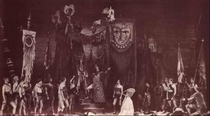 Elaborate stage of Tamburlaine the Great