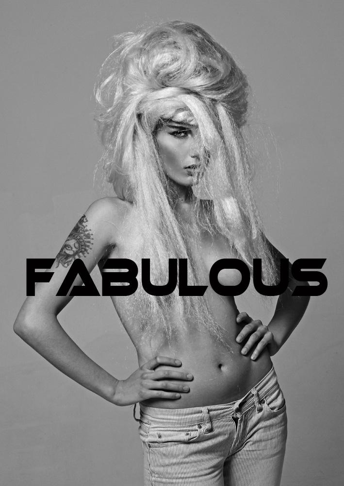 Creative fashion hair photo shoot