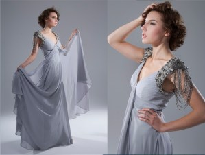 silver dress for elegant catalogs and lookbooks
