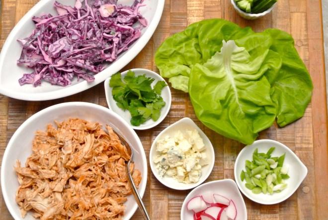 BBQ Chicken Lettuce Wraps