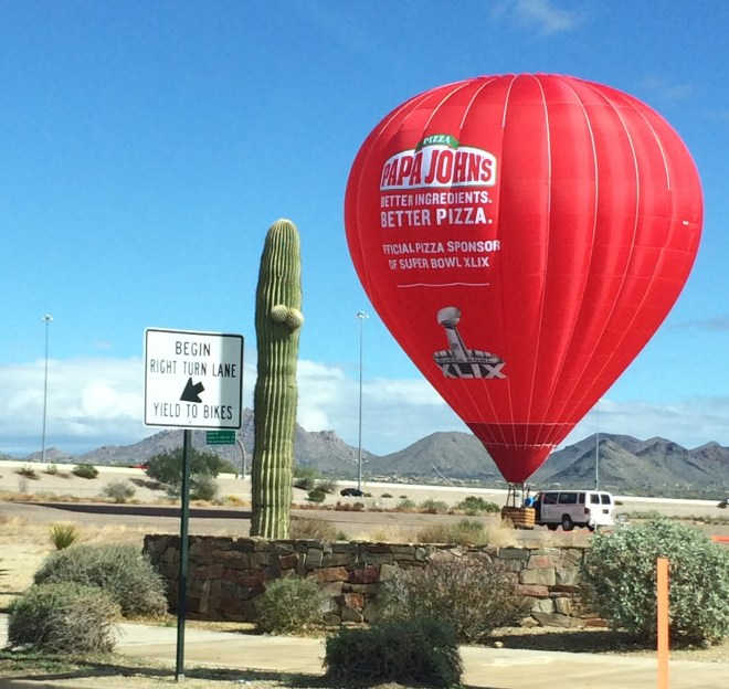 SuperBowl Hot Air Balloon
