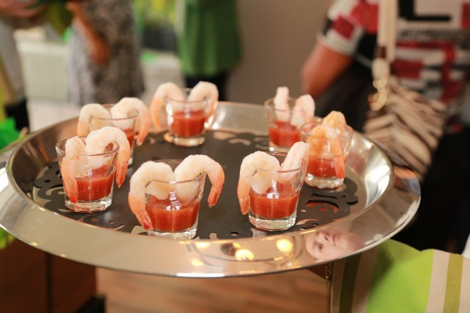 Bloody Mary Shrimp Shooters