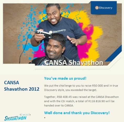 Discovery staff - you made us proud for supporting Shavathon!