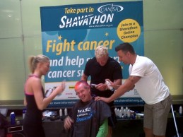 Marc Batchelor, Mark Fish & Melinda Bam (Miss SA) getting in on the action2
