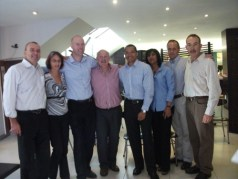 Shavathon Sanlam 2012 Sanlam Executives after shave and spray