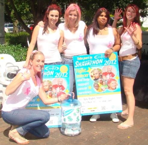 Some of the girls at Ogilvy JHB Shavathon 2012