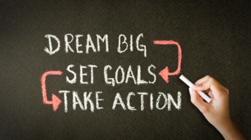 Dream Big.Set Goals.Take Action