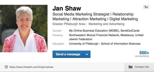 My Linkedin profile