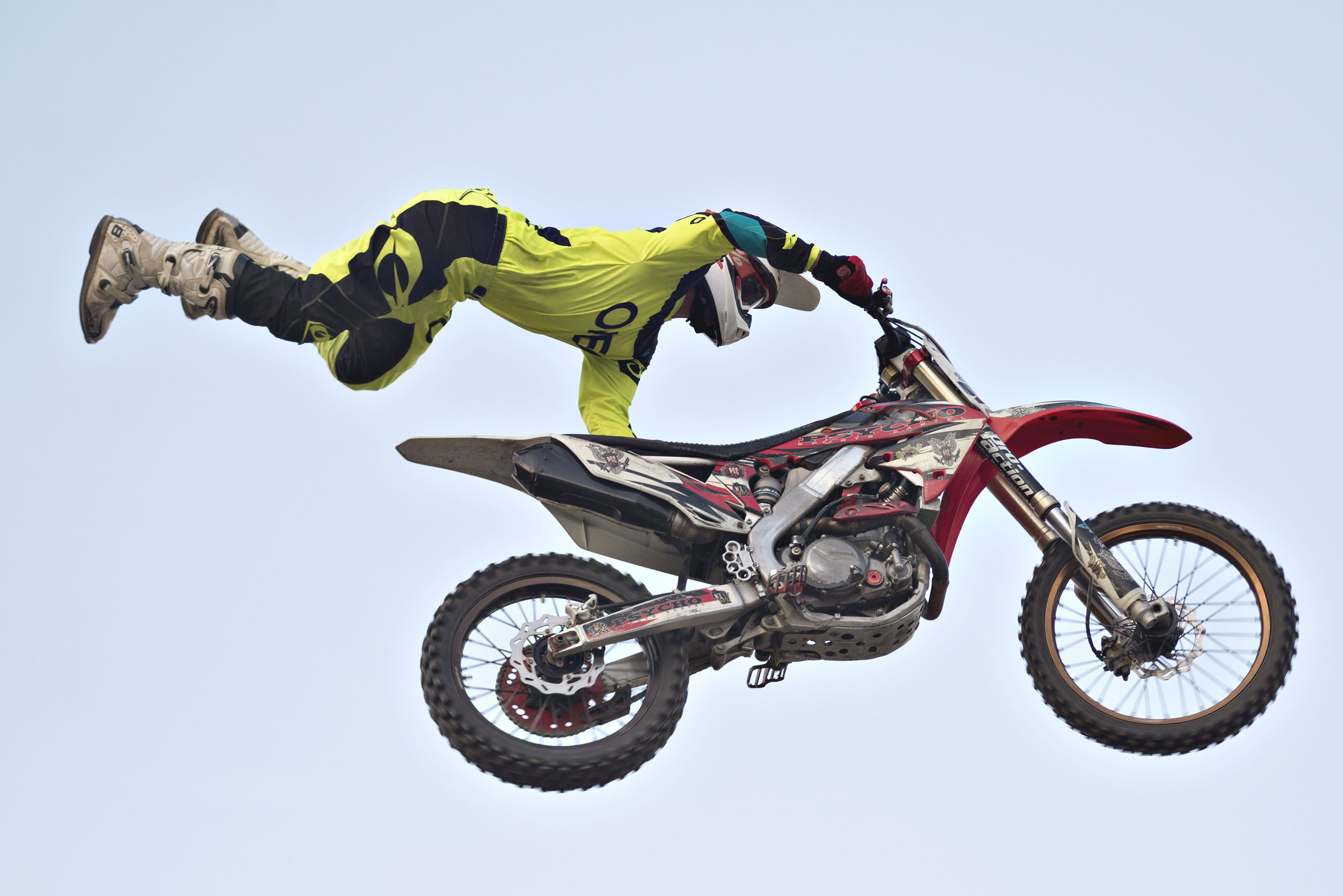 Cody Cavanaugh gets big air Thursday night in Morrison. The Sick Air FMX gang showcased five riders during a variety of flips, stunts and tricks at the Whiteside County Fair.