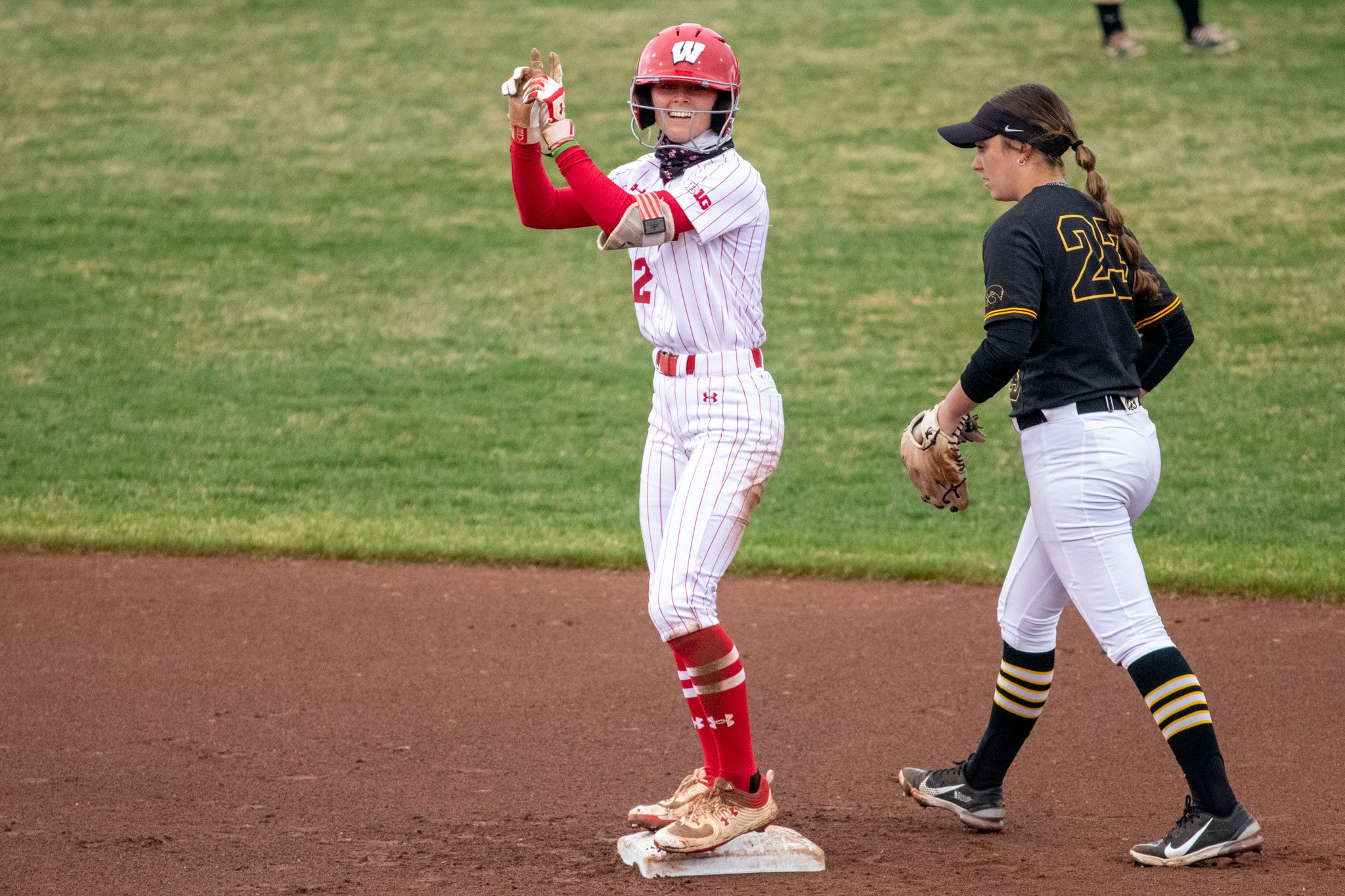 Wisconsin freshman Peyton Bannon, a Richmond-Burton graduate, is excelling for the Badgers in the leadoff spot this spring.