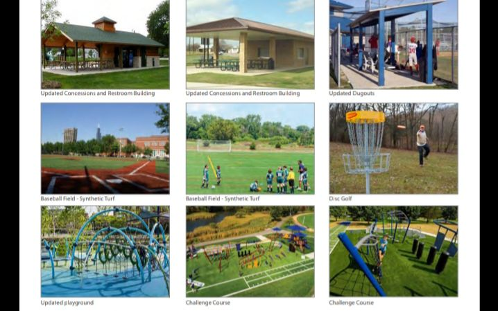 A rendering of what different new and updated amenities at Presidential Park in Algonquin could look like is shown here.