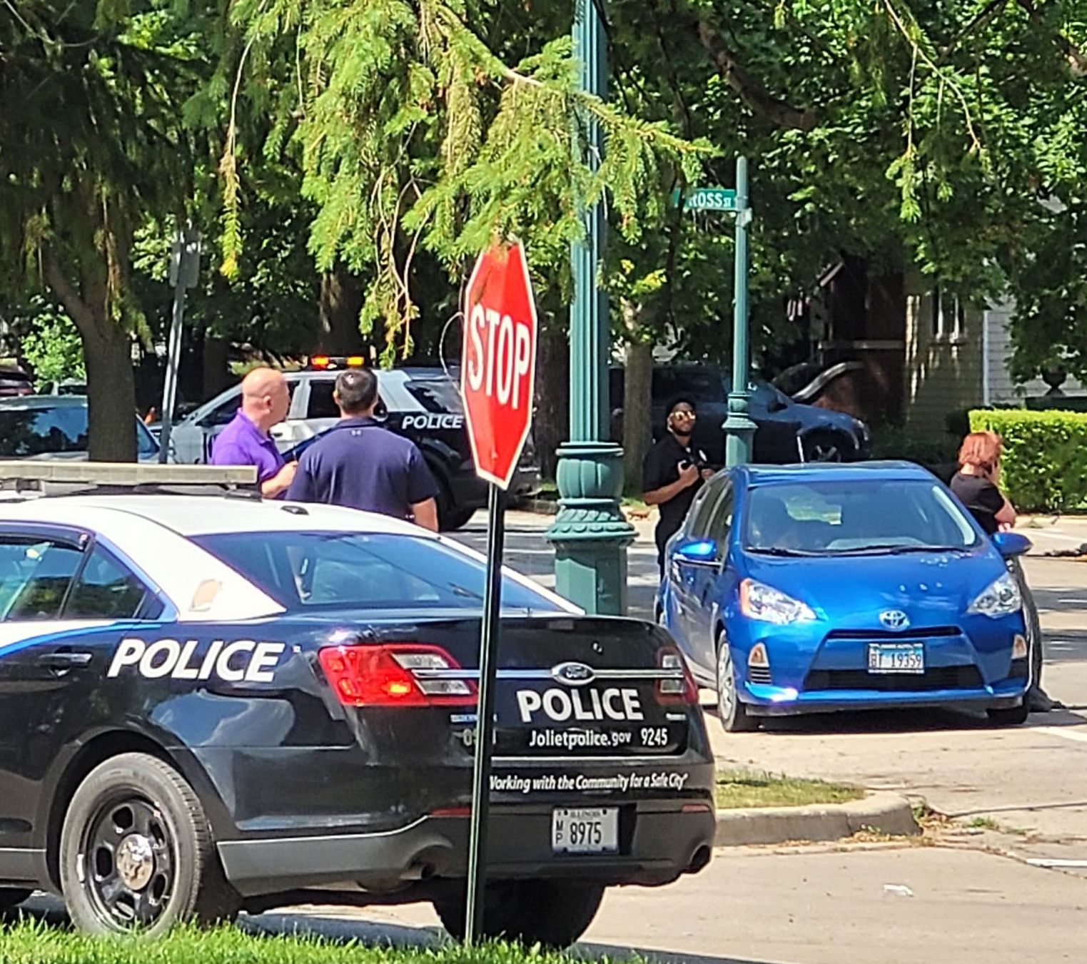 A woman was wounded in a Tuesday afternoon shooting near Joliet's Six Corners.