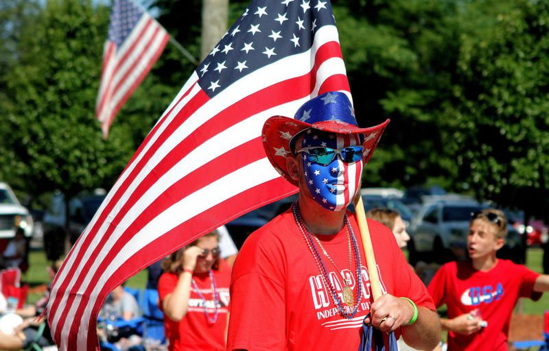 FILE PHOTO: Plenty of red, white and blue were on display in Yorkville's annual Fourth of July parade in 2019. The parade will return  this year on July 3.