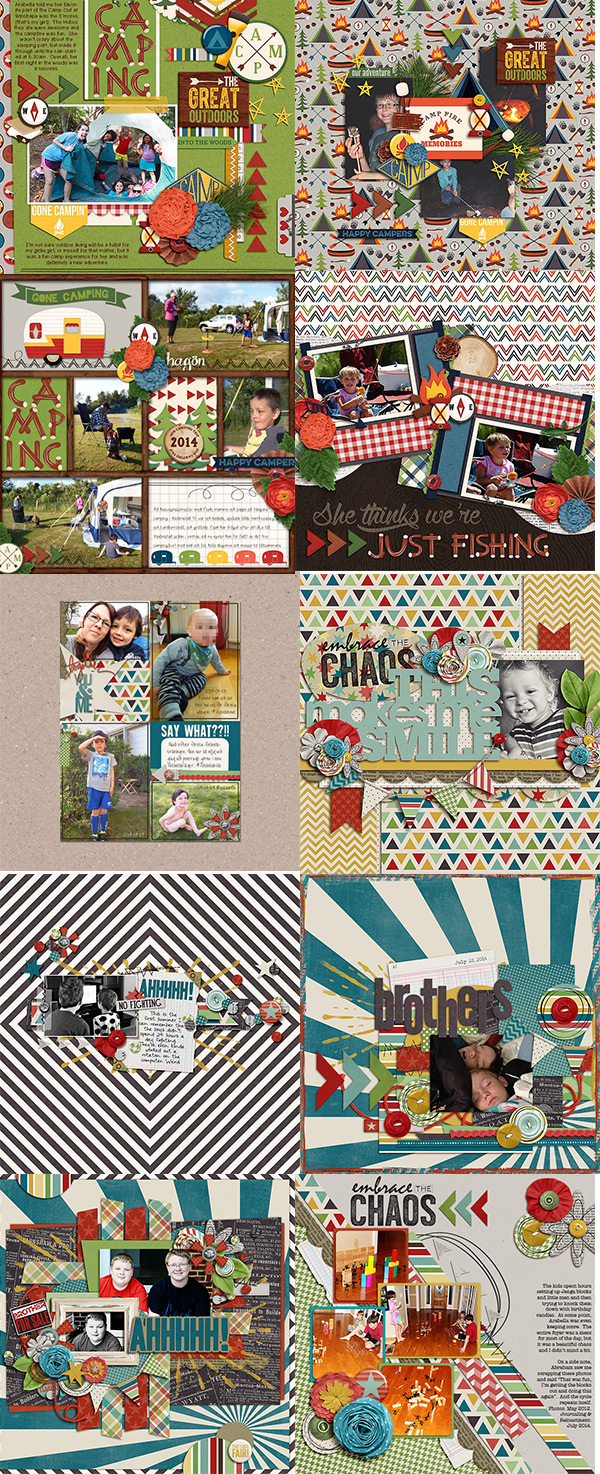 Shawna Clingerman Designs Team Layouts