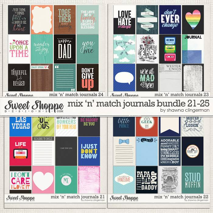 mix n match journal cards