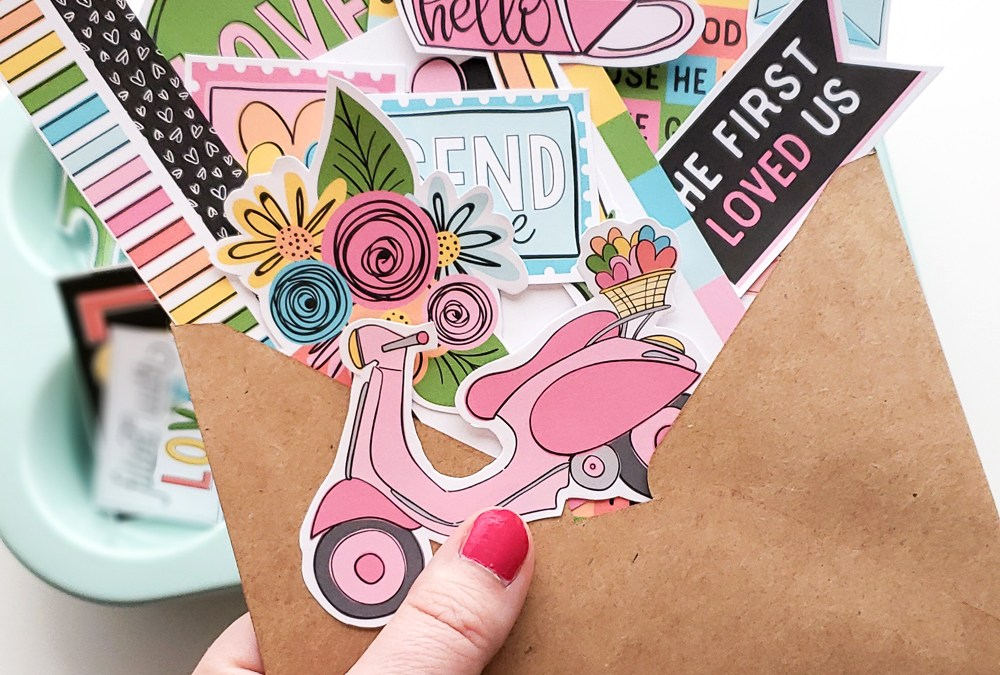SEND LOVE – Fussy Cutting my newest Collection in the Illustrated Faith Print and Pray Shop