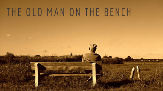 The old man on the bench