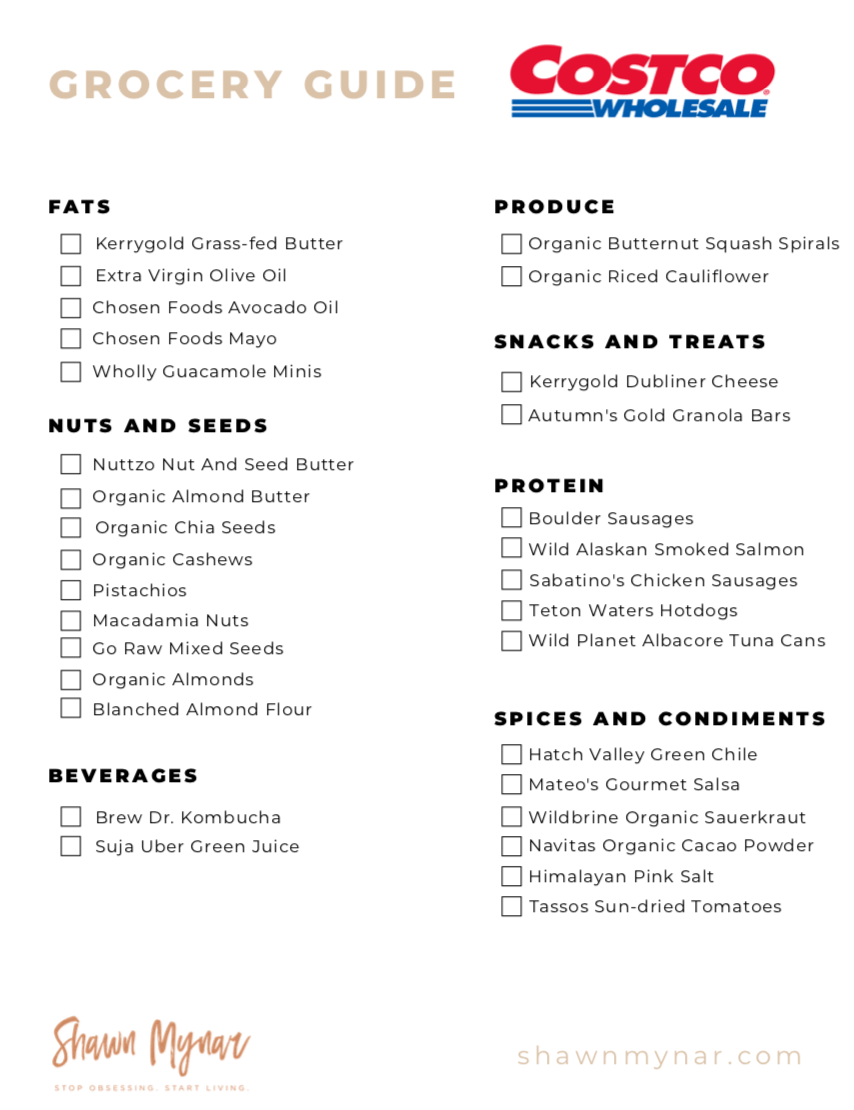 photograph regarding Keto Shopping List Printable identified as 31 Refreshing Keto Reveals At Costco - Shawn Mynar