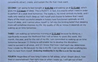 9 PM affirmation - Changing my sleeping pattern