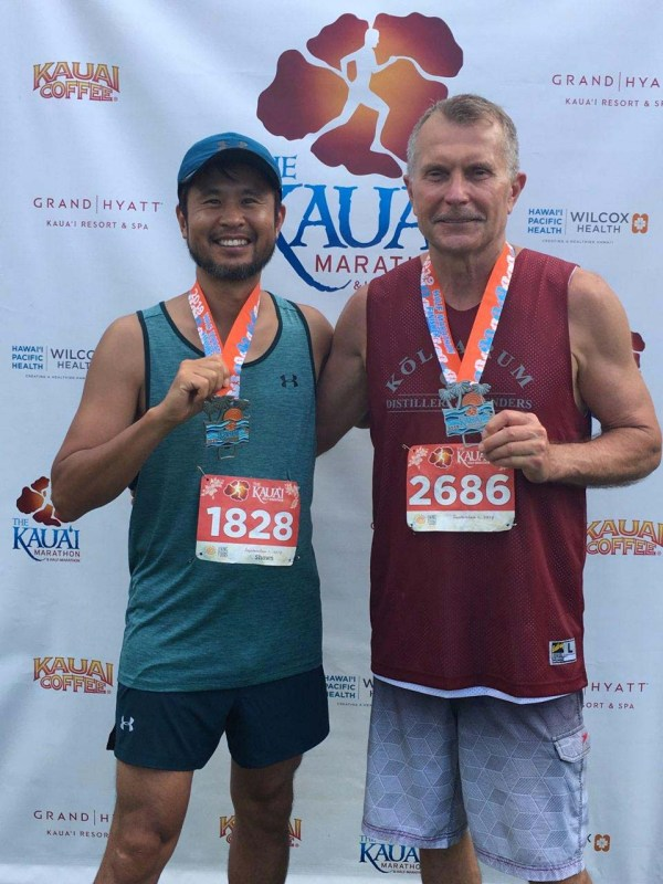 Kauai Half Marathon 2019 Shawn S Lee with Bob