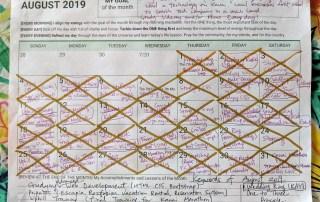 Reflection on August Planner for September 2019
