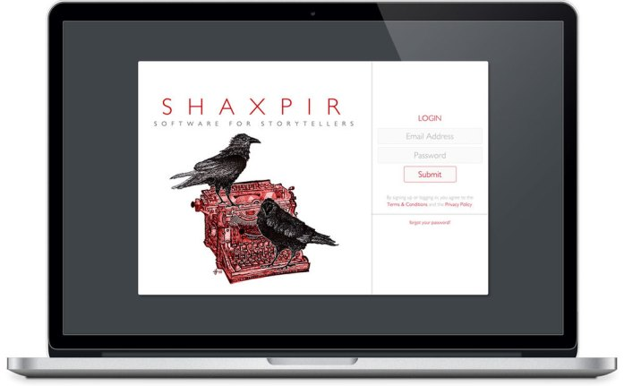 Shaxpir, writing software focused on writing