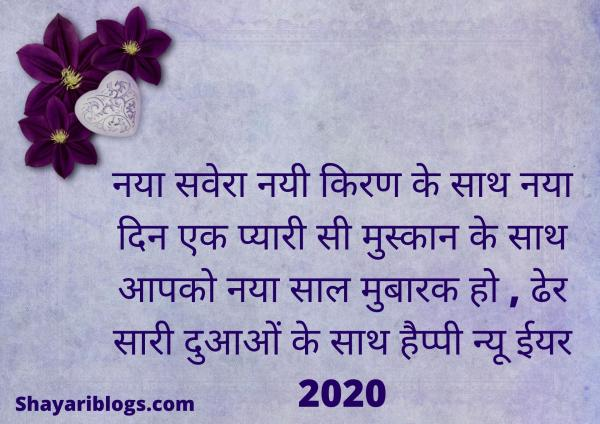 Happy New Year Wishes in hindi image