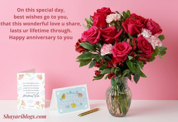 1st marriage anniversary wishes image