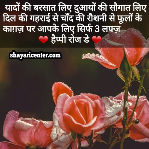 lovely rose day shayari urdu