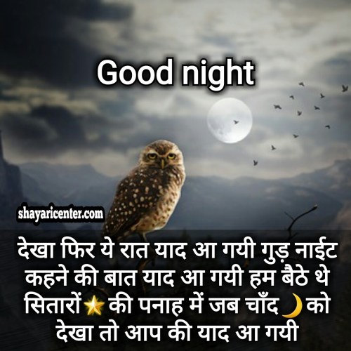 nice good night shayari image