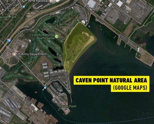 Caven Point Natural Area map
