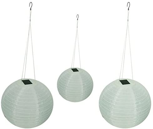 Wholesale Solar Shoji Solar Lanterns, 12″ Diameter (3 Pack)