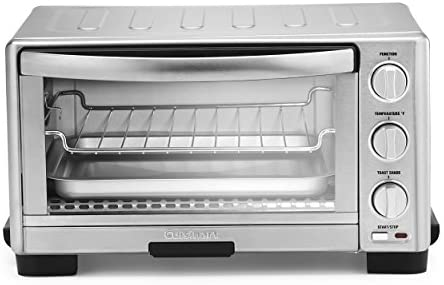 Cuisinart TOB-1010 Toaster Oven Broiler, 11.77″ x 15.86″ x 7.87″, Silver