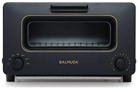 BALMUDA The Toaster | Steam Oven Toaster | 5 Cooking Modes – Sandwich Bread, Artisan Bread, Pizza, Pastry, Oven | Compact Design | Baking Pan | K01M-KG | Black | US Version