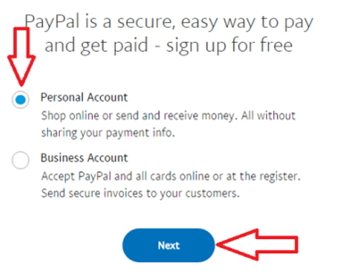 how-to-create-paypal-account-select-account