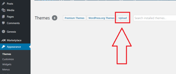 upload-wordpress-theme