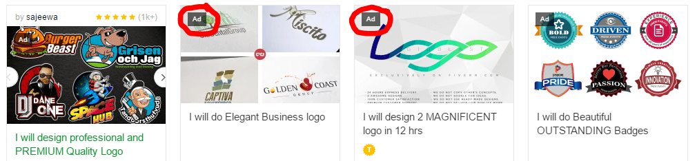 Ads Badges on Promoted Gigs