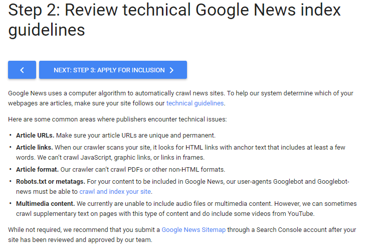 Technical News Indexing Guidlines