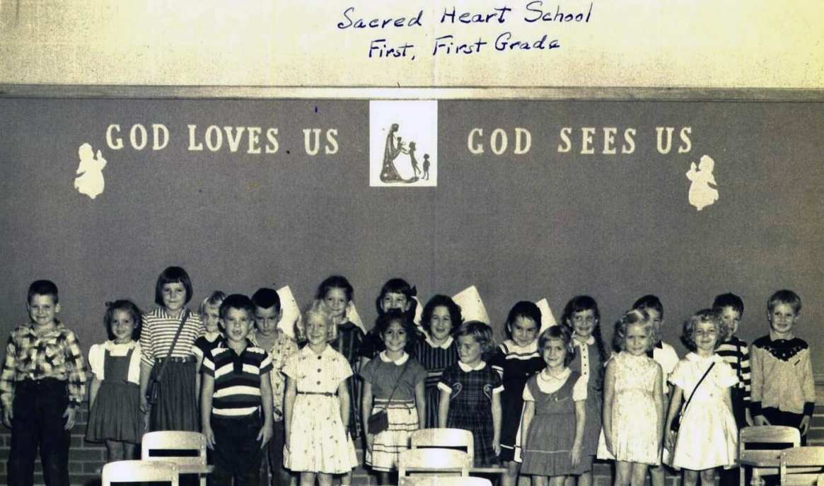 First Grade of Sacred Heart 1956
