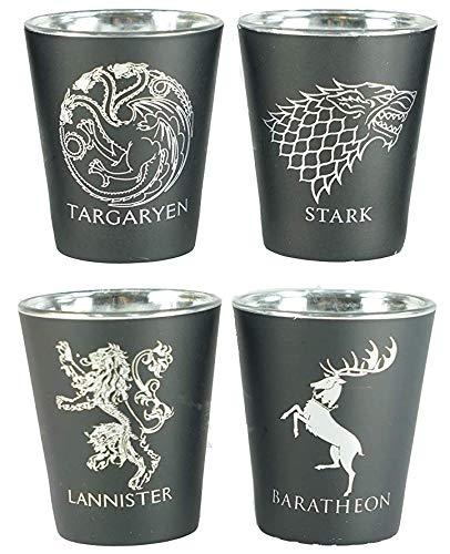 Rabbit Tanaka Game of Thrones House Sigil Shot Glass Set