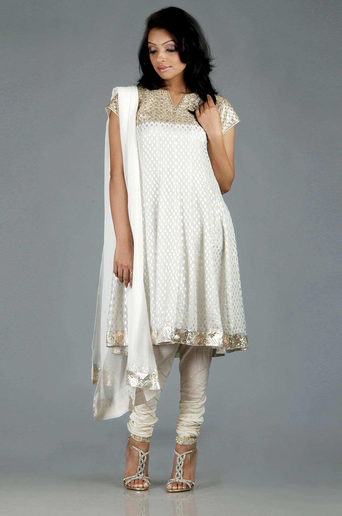 Latest White Salwar Kameez Designs