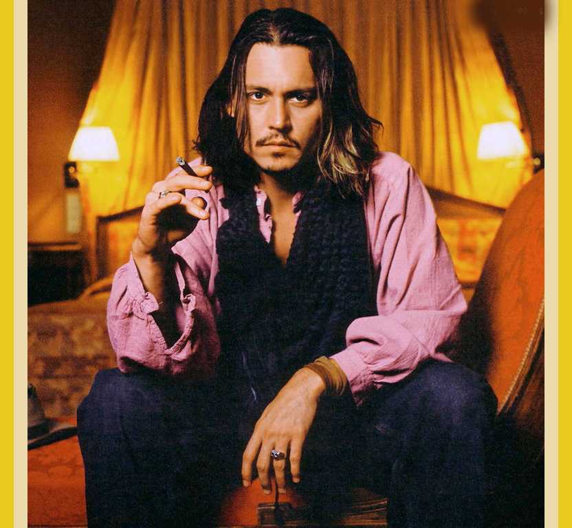 Johnny Depp Long Hairstyle Picture