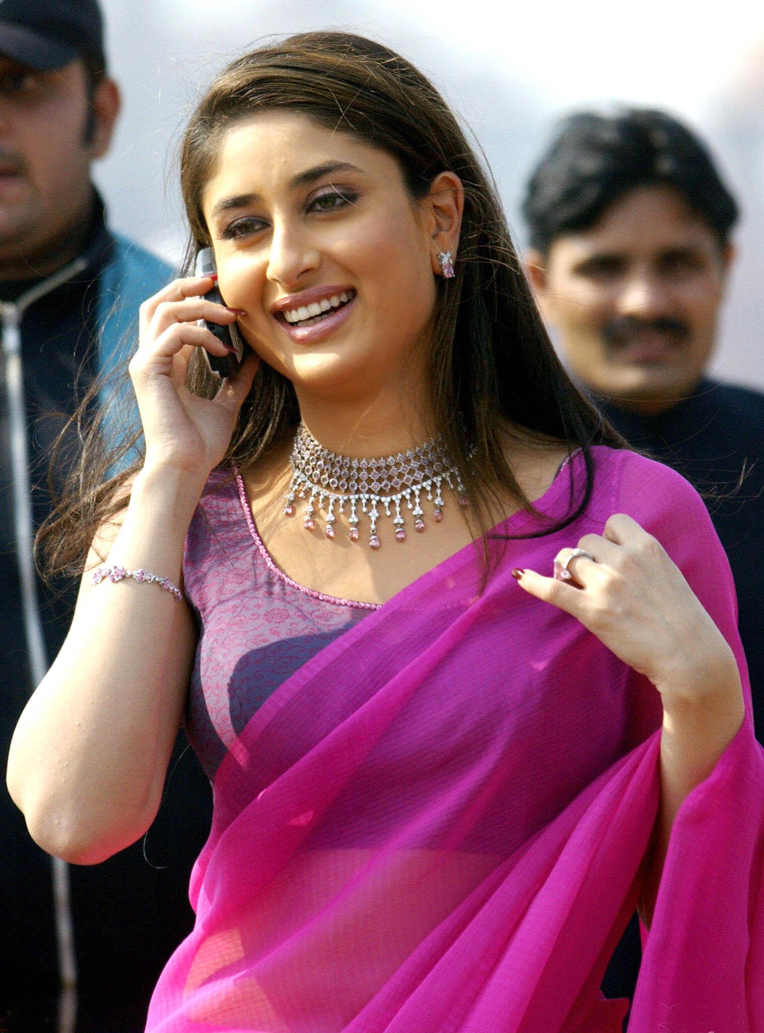 Kareena Kapoor In Purple Saree Photo