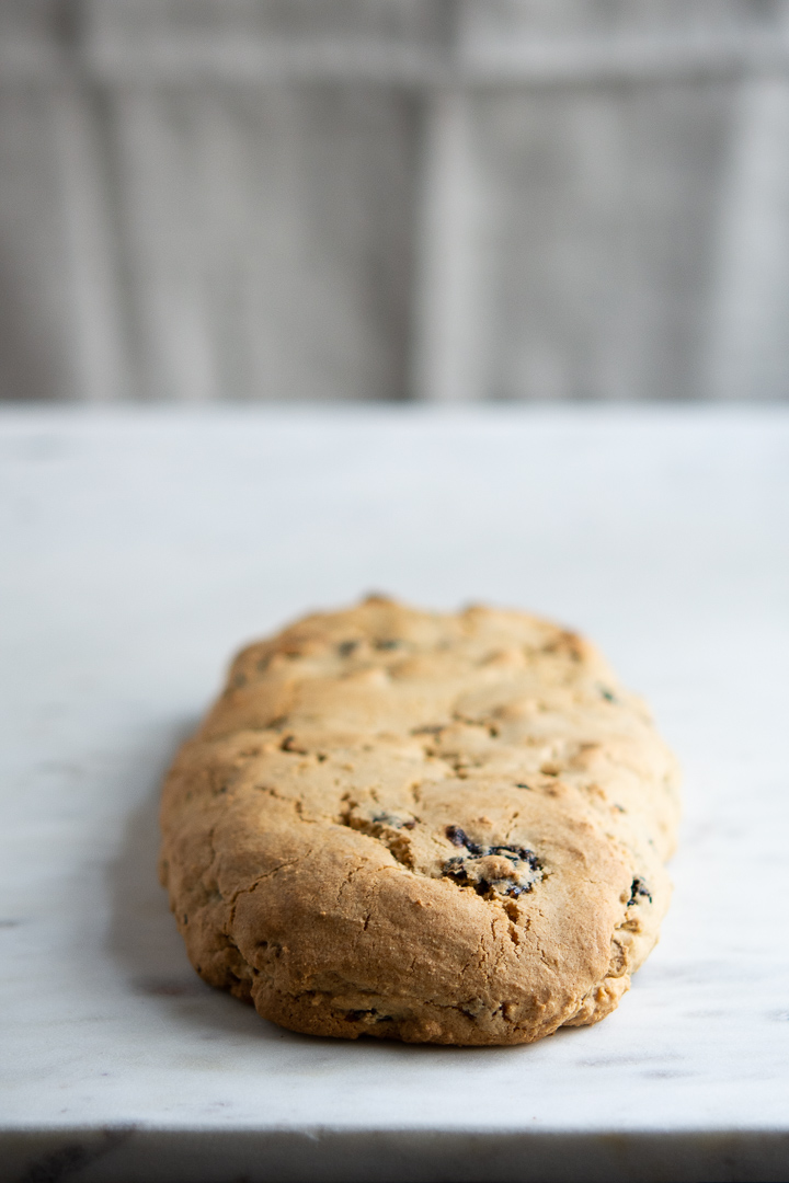 Dried Cherry, Pistachio and Lemon Biscotti