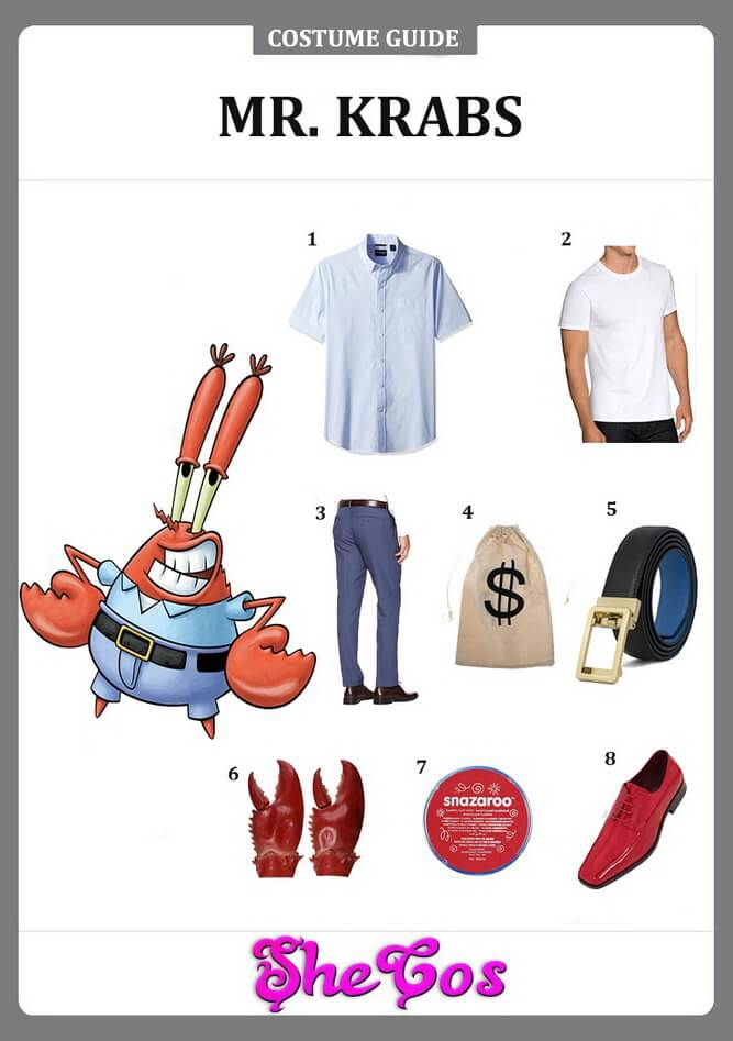 The Quick Way To Diy Spongebob Mr Krabs Costume Shecos Blog