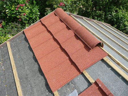 repairing a shed roof roofing felt or shingles. Black Bedroom Furniture Sets. Home Design Ideas